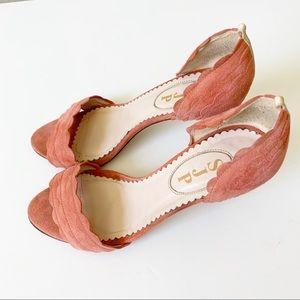 SJP by Sarah Jessica Parker Shoes - SJP by Sarah Jessica Parker Pink Suede Heel Sz 37